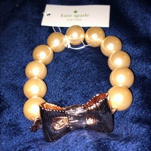 Kate spade large pearl and bow bracelet